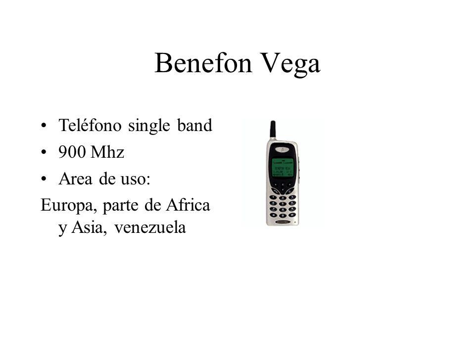 Benefon Vega Teléfono single band 900 Mhz Area de uso: Europa, parte de Africa y Asia, venezuela