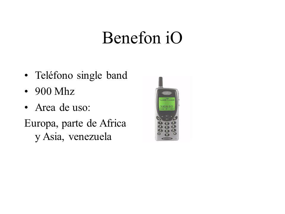 Benefon iO Teléfono single band 900 Mhz Area de uso: Europa, parte de Africa y Asia, venezuela