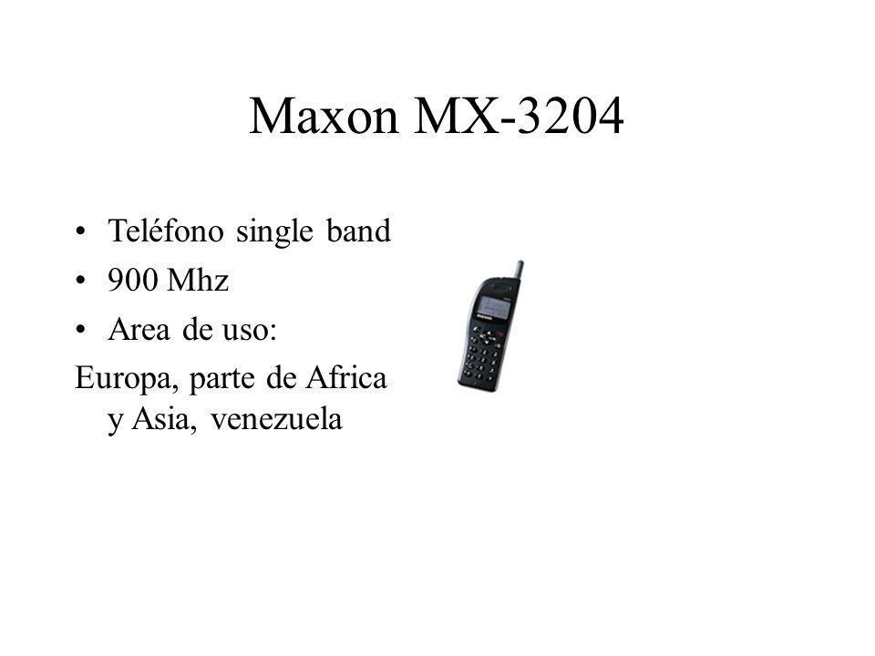 Maxon MX-3204 Teléfono single band 900 Mhz Area de uso: Europa, parte de Africa y Asia, venezuela