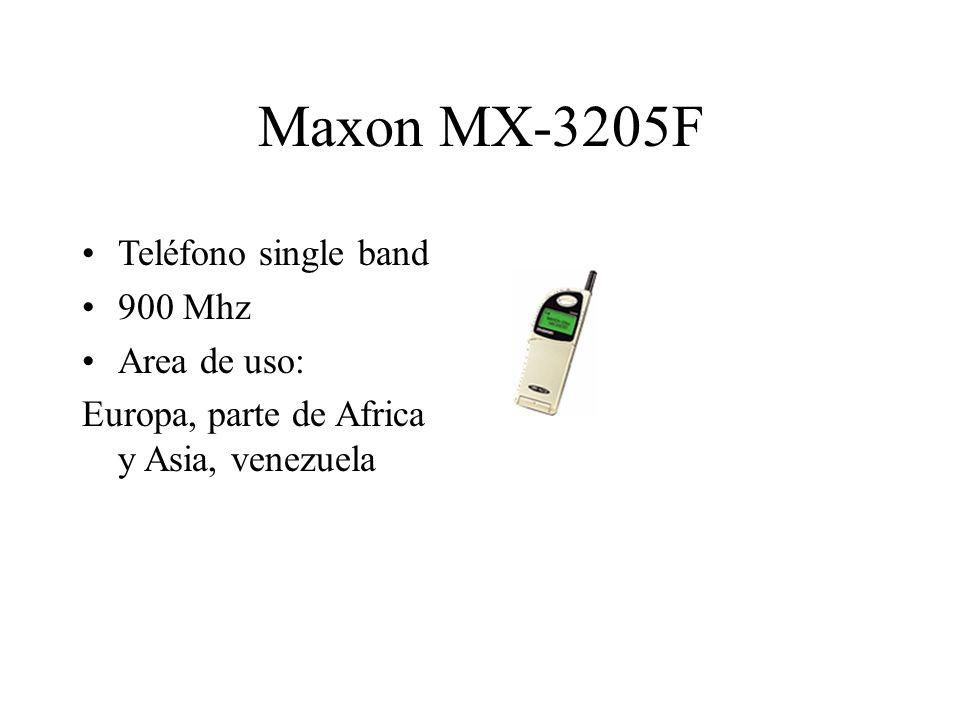 Maxon MX-3205F Teléfono single band 900 Mhz Area de uso: Europa, parte de Africa y Asia, venezuela