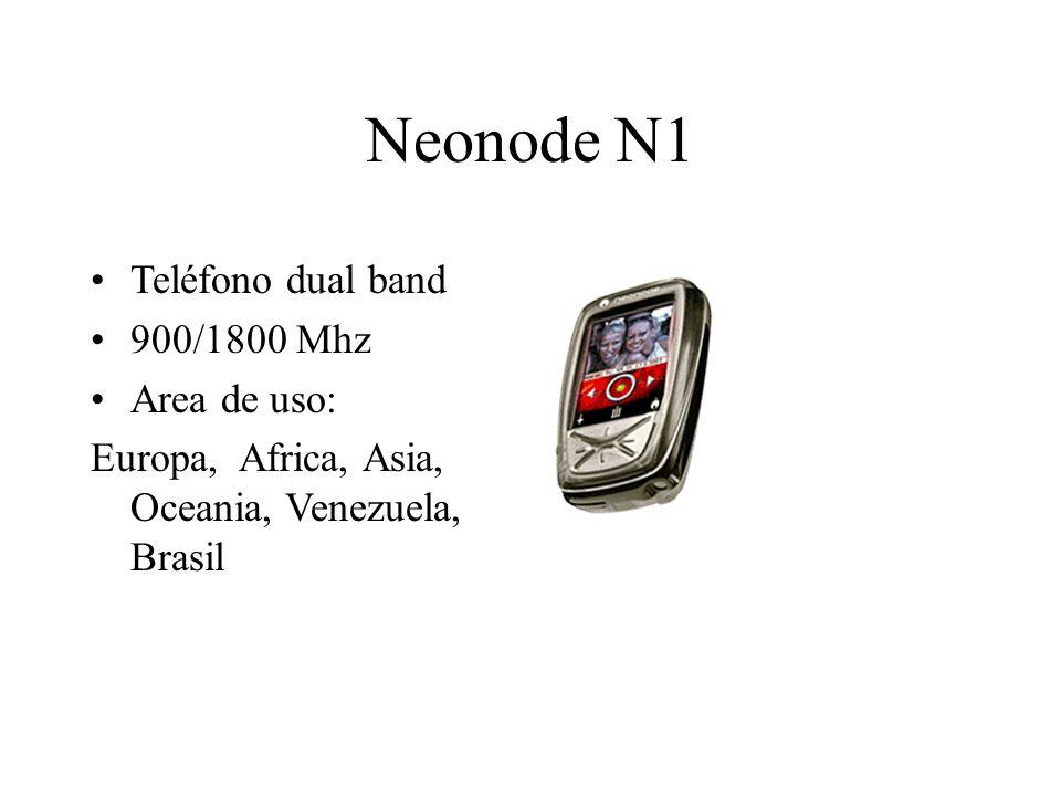 Neonode N1 Teléfono dual band 900/1800 Mhz Area de uso: Europa, Africa, Asia, Oceania, Venezuela, Brasil