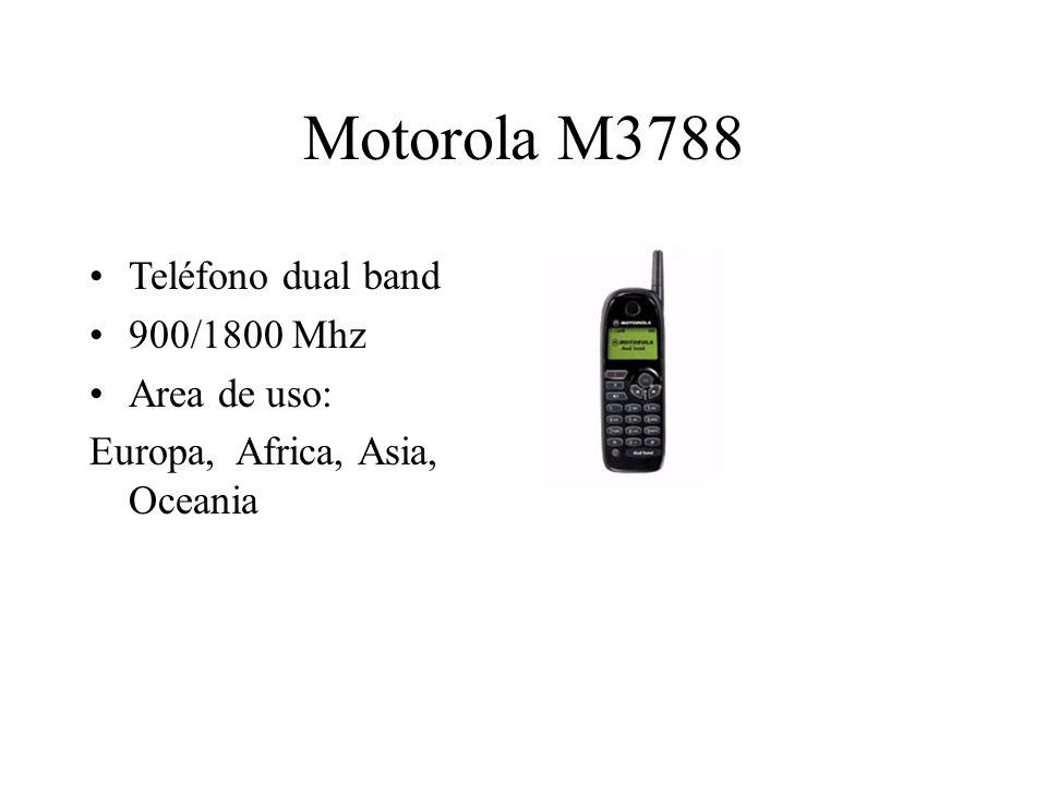 Motorola M3788 Teléfono dual band 900/1800 Mhz Area de uso: Europa, Africa, Asia, Oceania