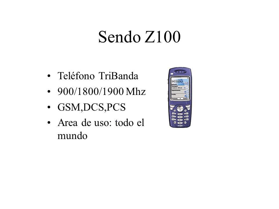 Sendo Z100 Teléfono TriBanda 900/1800/1900 Mhz GSM,DCS,PCS Area de uso: todo el mundo