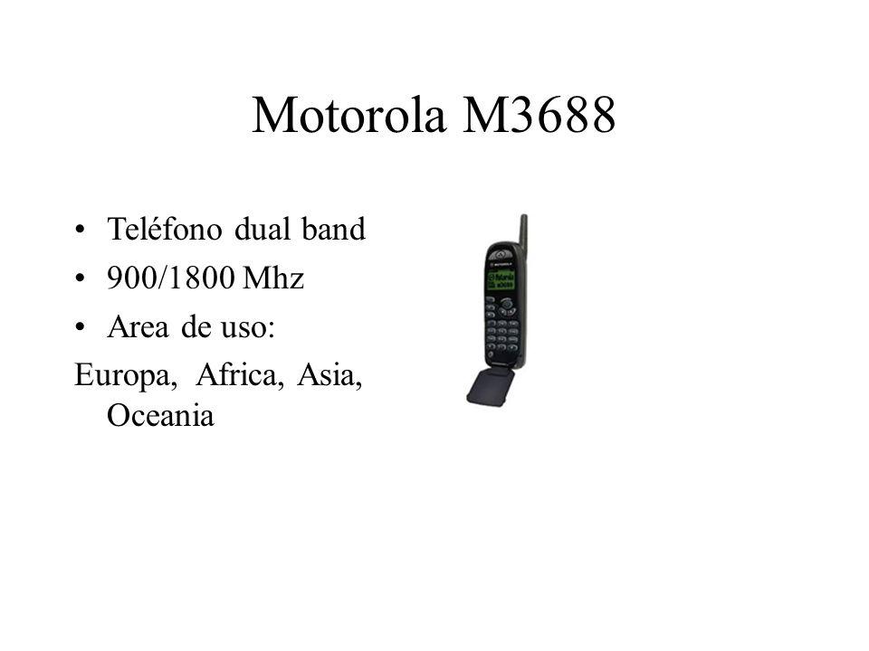 Motorola M3688 Teléfono dual band 900/1800 Mhz Area de uso: Europa, Africa, Asia, Oceania