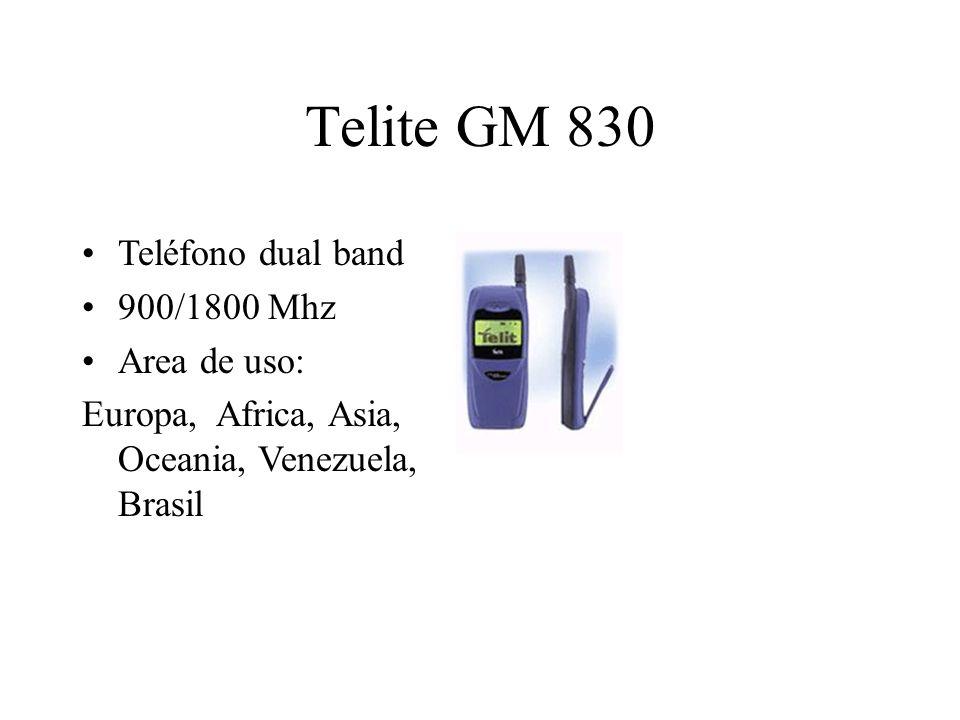 Telite GM 830 Teléfono dual band 900/1800 Mhz Area de uso: Europa, Africa, Asia, Oceania, Venezuela, Brasil