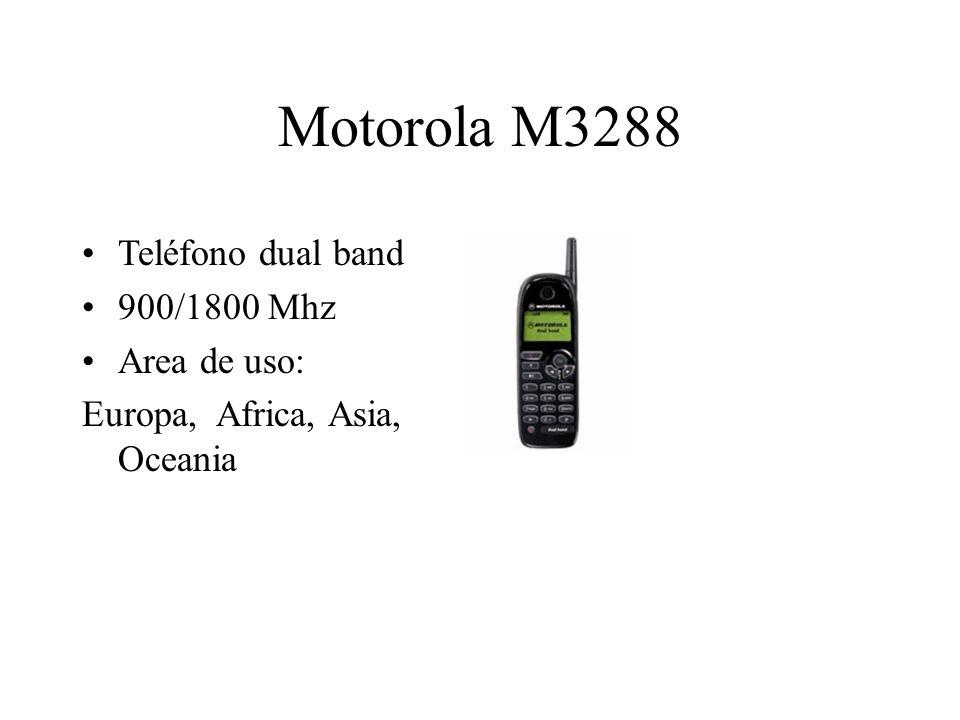 Motorola M3288 Teléfono dual band 900/1800 Mhz Area de uso: Europa, Africa, Asia, Oceania