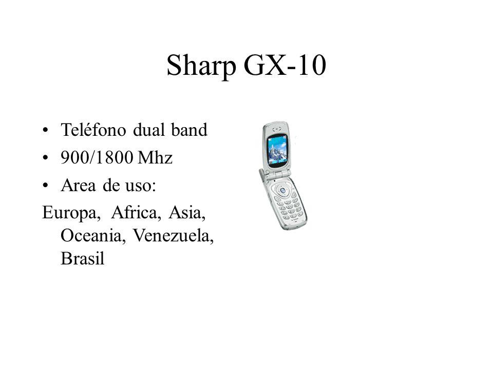 Sharp GX-10 Teléfono dual band 900/1800 Mhz Area de uso: Europa, Africa, Asia, Oceania, Venezuela, Brasil