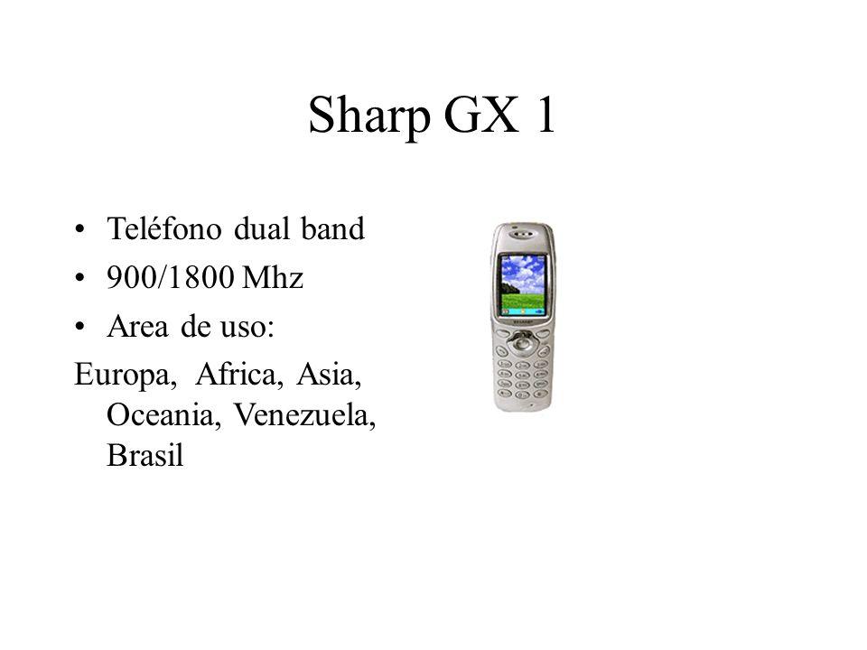 Sharp GX 1 Teléfono dual band 900/1800 Mhz Area de uso: Europa, Africa, Asia, Oceania, Venezuela, Brasil