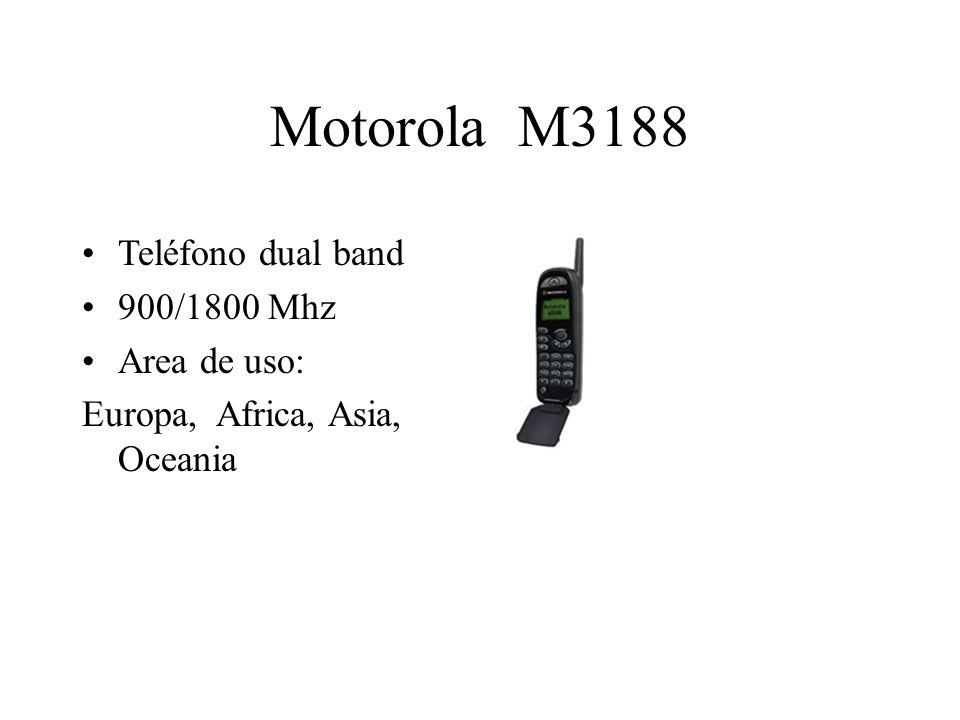 Motorola M3188 Teléfono dual band 900/1800 Mhz Area de uso: Europa, Africa, Asia, Oceania
