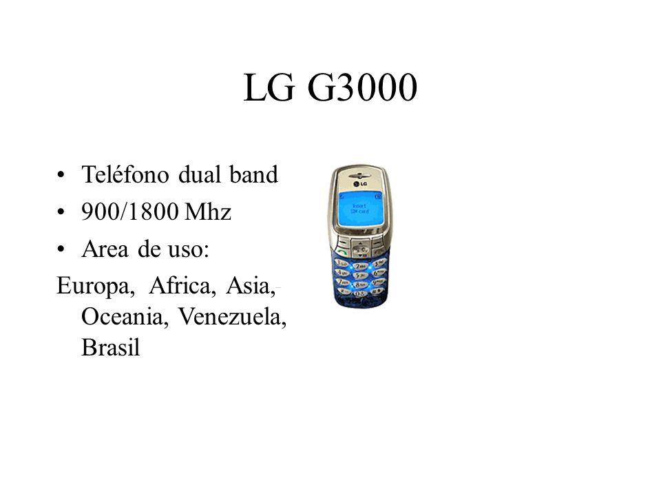 LG G3000 Teléfono dual band 900/1800 Mhz Area de uso: Europa, Africa, Asia, Oceania, Venezuela, Brasil