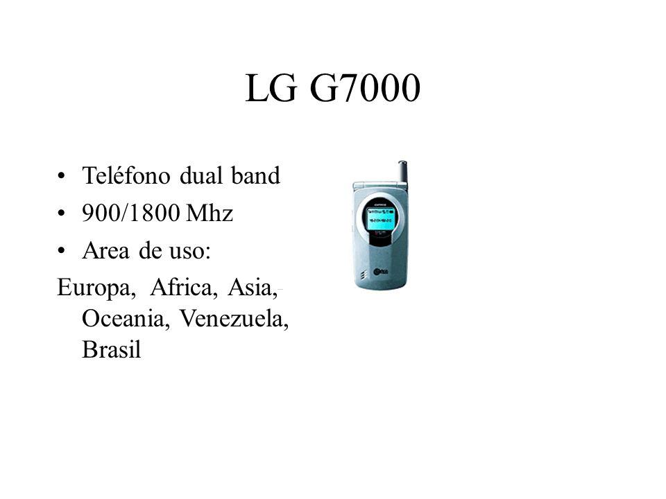 LG G7000 Teléfono dual band 900/1800 Mhz Area de uso: Europa, Africa, Asia, Oceania, Venezuela, Brasil