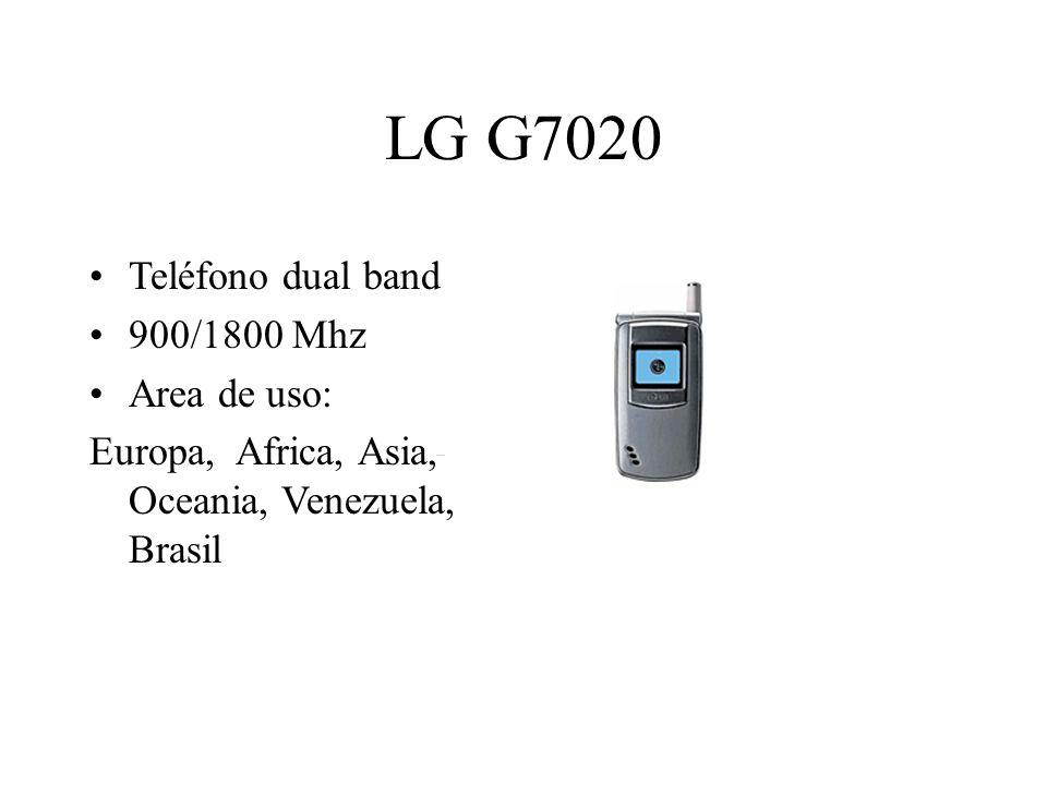 LG G7020 Teléfono dual band 900/1800 Mhz Area de uso: Europa, Africa, Asia, Oceania, Venezuela, Brasil