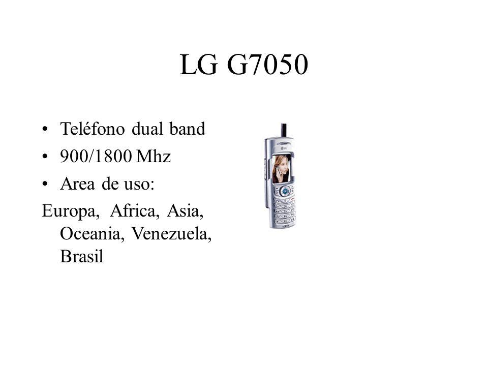 LG G7050 Teléfono dual band 900/1800 Mhz Area de uso: Europa, Africa, Asia, Oceania, Venezuela, Brasil