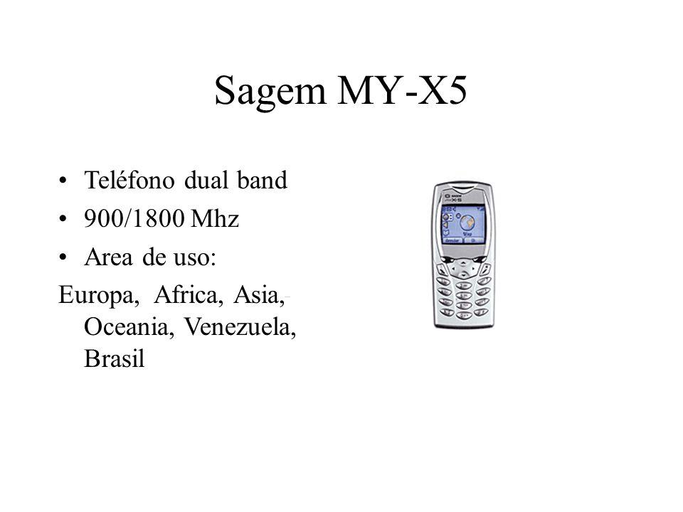 Sagem MY-X5 Teléfono dual band 900/1800 Mhz Area de uso: Europa, Africa, Asia, Oceania, Venezuela, Brasil