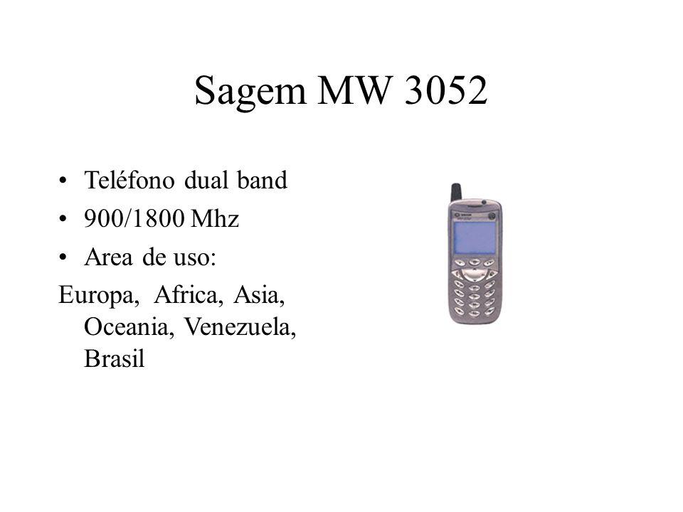 Sagem MW 3052 Teléfono dual band 900/1800 Mhz Area de uso: Europa, Africa, Asia, Oceania, Venezuela, Brasil