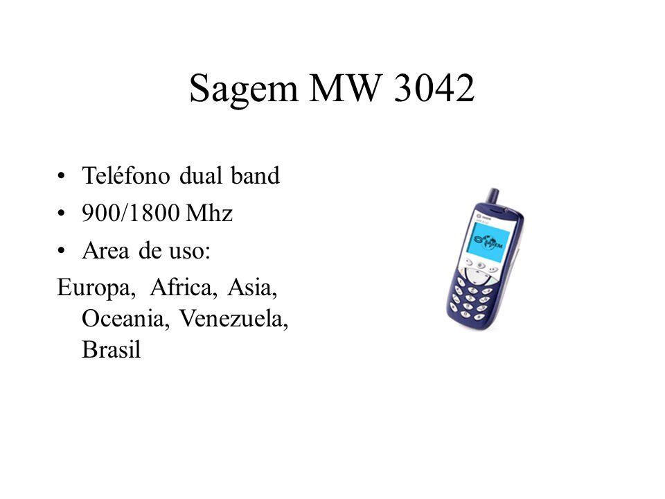 Sagem MW 3042 Teléfono dual band 900/1800 Mhz Area de uso: Europa, Africa, Asia, Oceania, Venezuela, Brasil