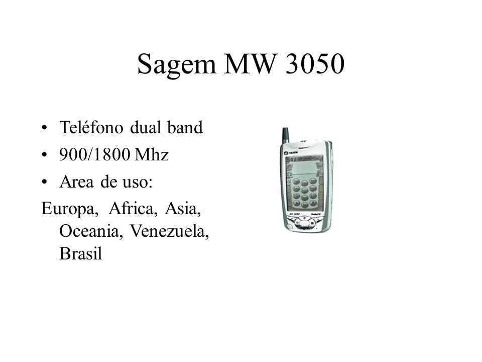 Sagem MW 3050 Teléfono dual band 900/1800 Mhz Area de uso: Europa, Africa, Asia, Oceania, Venezuela, Brasil