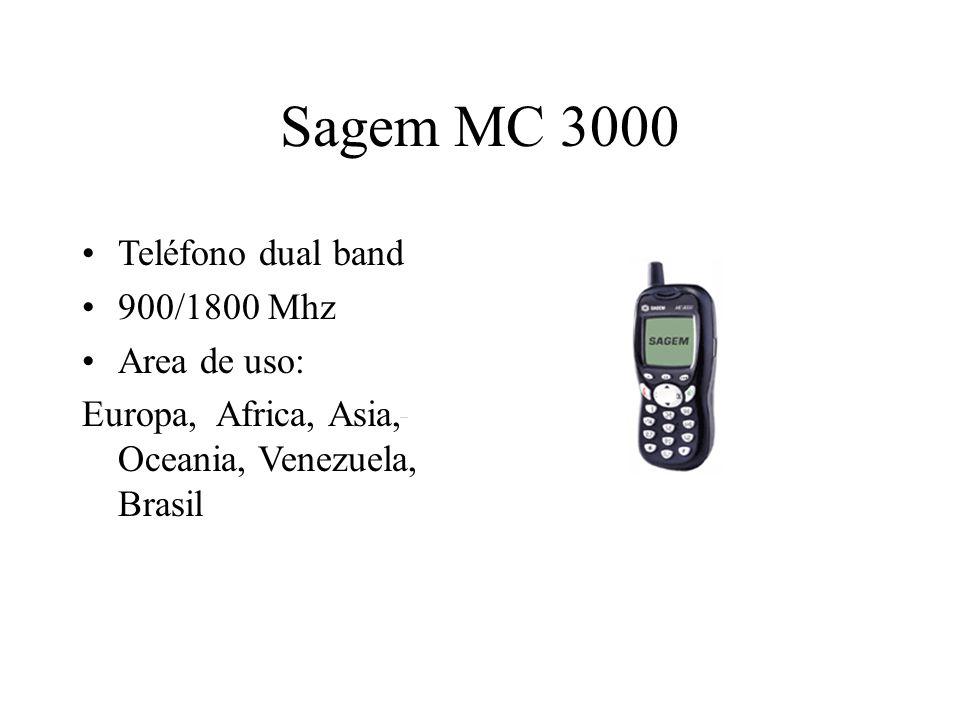 Sagem MC 3000 Teléfono dual band 900/1800 Mhz Area de uso: Europa, Africa, Asia, Oceania, Venezuela, Brasil