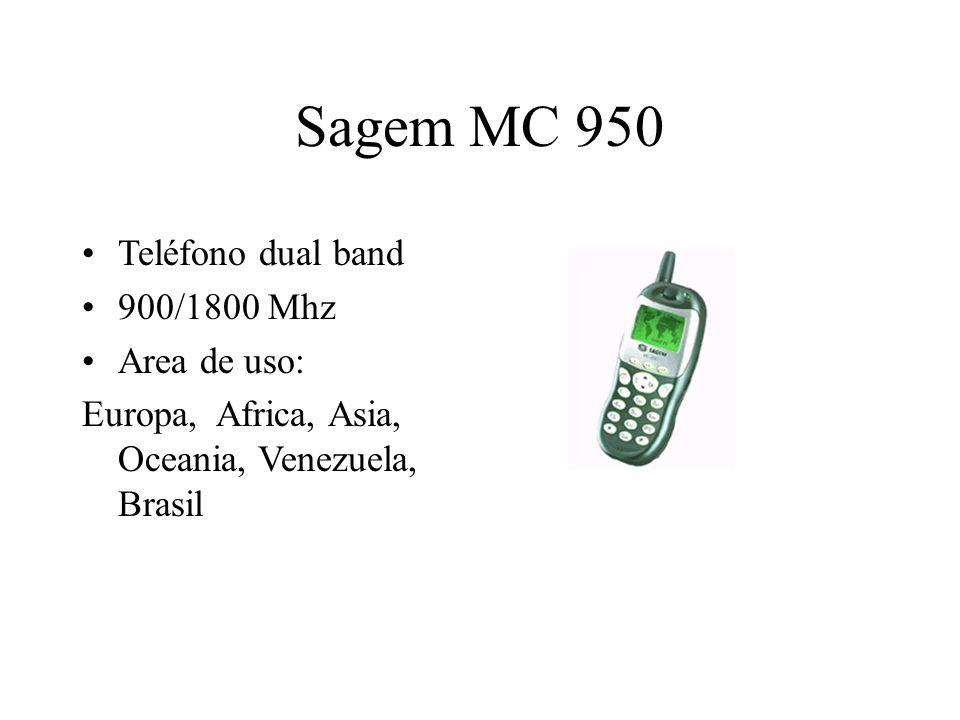 Sagem MC 950 Teléfono dual band 900/1800 Mhz Area de uso: Europa, Africa, Asia, Oceania, Venezuela, Brasil