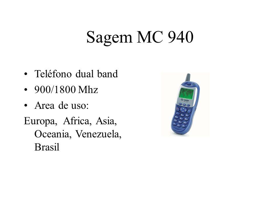 Sagem MC 940 Teléfono dual band 900/1800 Mhz Area de uso: Europa, Africa, Asia, Oceania, Venezuela, Brasil