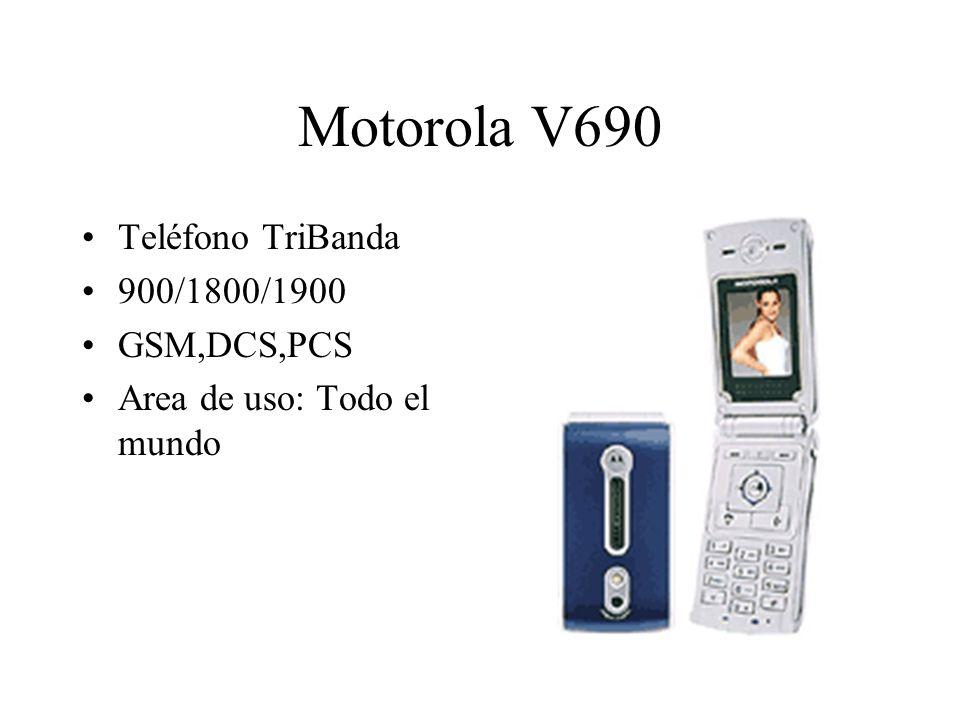 Motorola V690 Teléfono TriBanda 900/1800/1900 GSM,DCS,PCS Area de uso: Todo el mundo