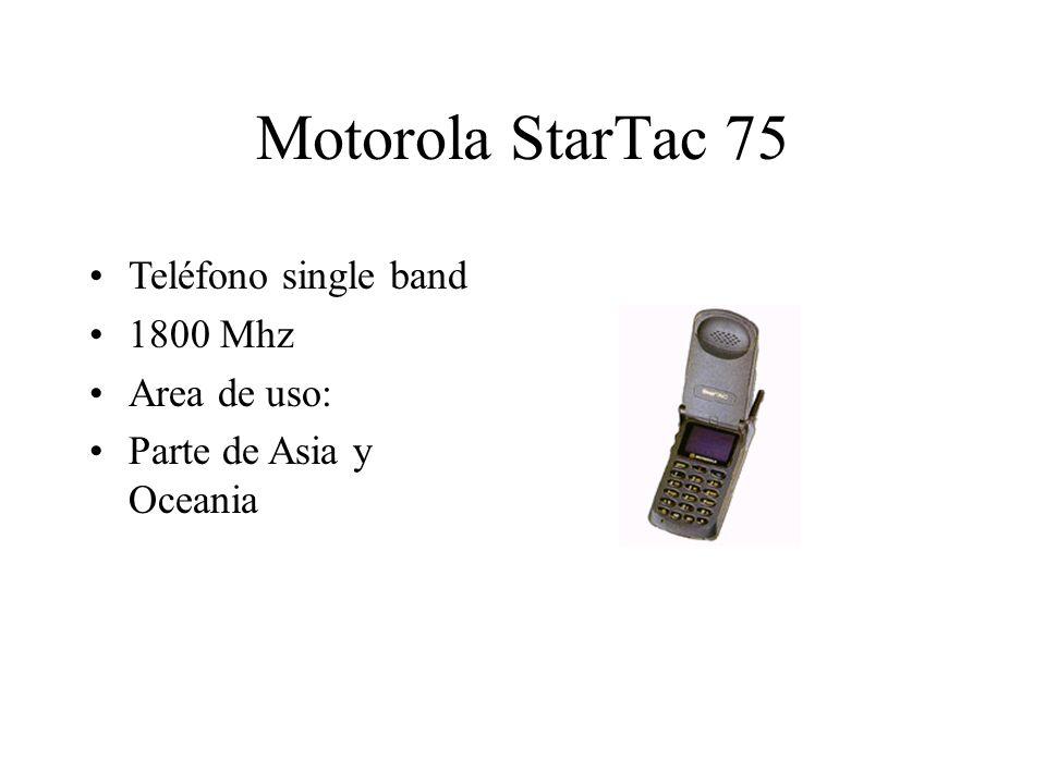 Motorola StarTac 75 Teléfono single band 1800 Mhz Area de uso: Parte de Asia y Oceania