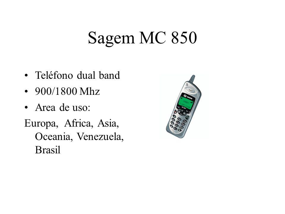 Sagem MC 850 Teléfono dual band 900/1800 Mhz Area de uso: Europa, Africa, Asia, Oceania, Venezuela, Brasil