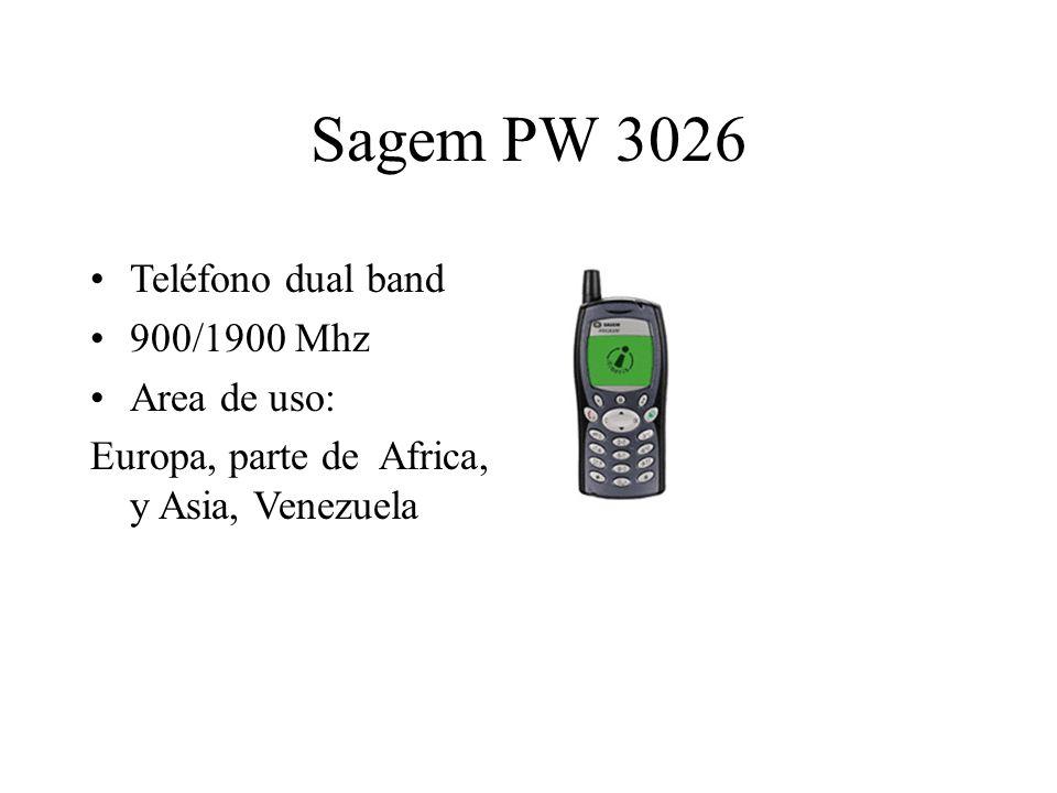 Sagem PW 3026 Teléfono dual band 900/1900 Mhz Area de uso: Europa, parte de Africa, y Asia, Venezuela