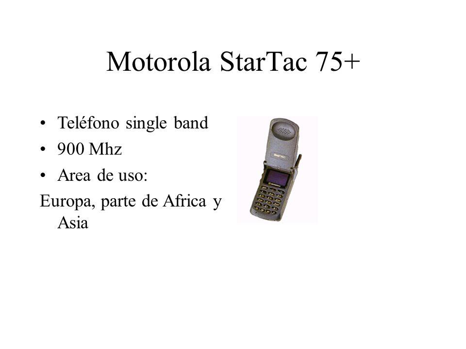 Motorola StarTac 75+ Teléfono single band 900 Mhz Area de uso: Europa, parte de Africa y Asia