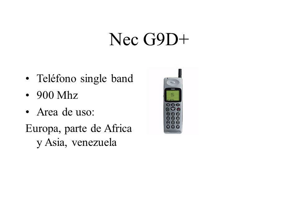 Nec G9D+ Teléfono single band 900 Mhz Area de uso: Europa, parte de Africa y Asia, venezuela