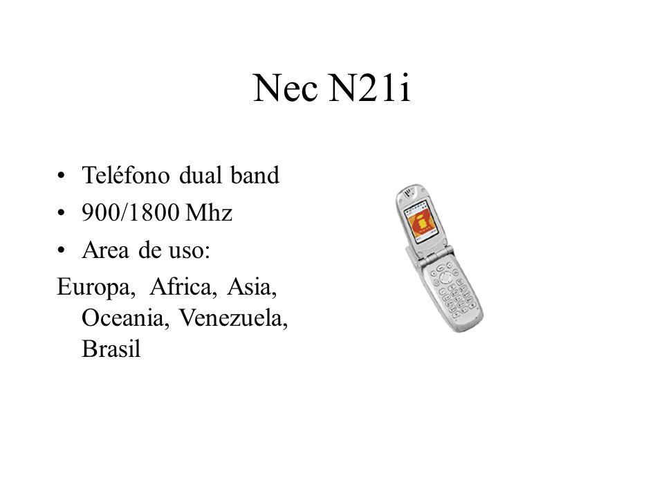 Nec N21i Teléfono dual band 900/1800 Mhz Area de uso: Europa, Africa, Asia, Oceania, Venezuela, Brasil