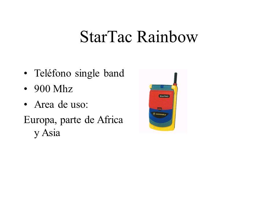 StarTac Rainbow Teléfono single band 900 Mhz Area de uso: Europa, parte de Africa y Asia