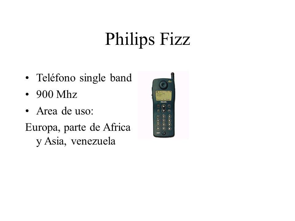 Philips Fizz Teléfono single band 900 Mhz Area de uso: Europa, parte de Africa y Asia, venezuela