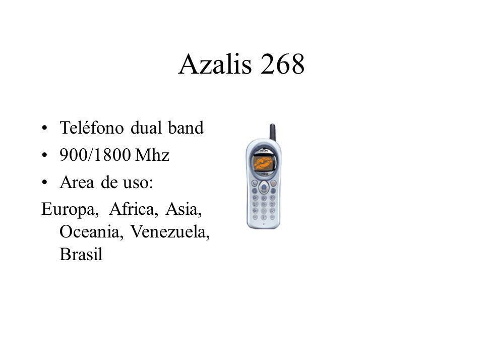 Azalis 268 Teléfono dual band 900/1800 Mhz Area de uso: Europa, Africa, Asia, Oceania, Venezuela, Brasil