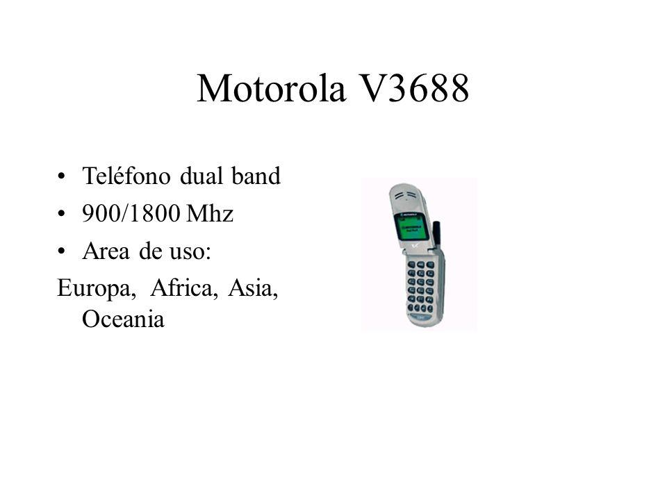 Motorola V3688 Teléfono dual band 900/1800 Mhz Area de uso: Europa, Africa, Asia, Oceania
