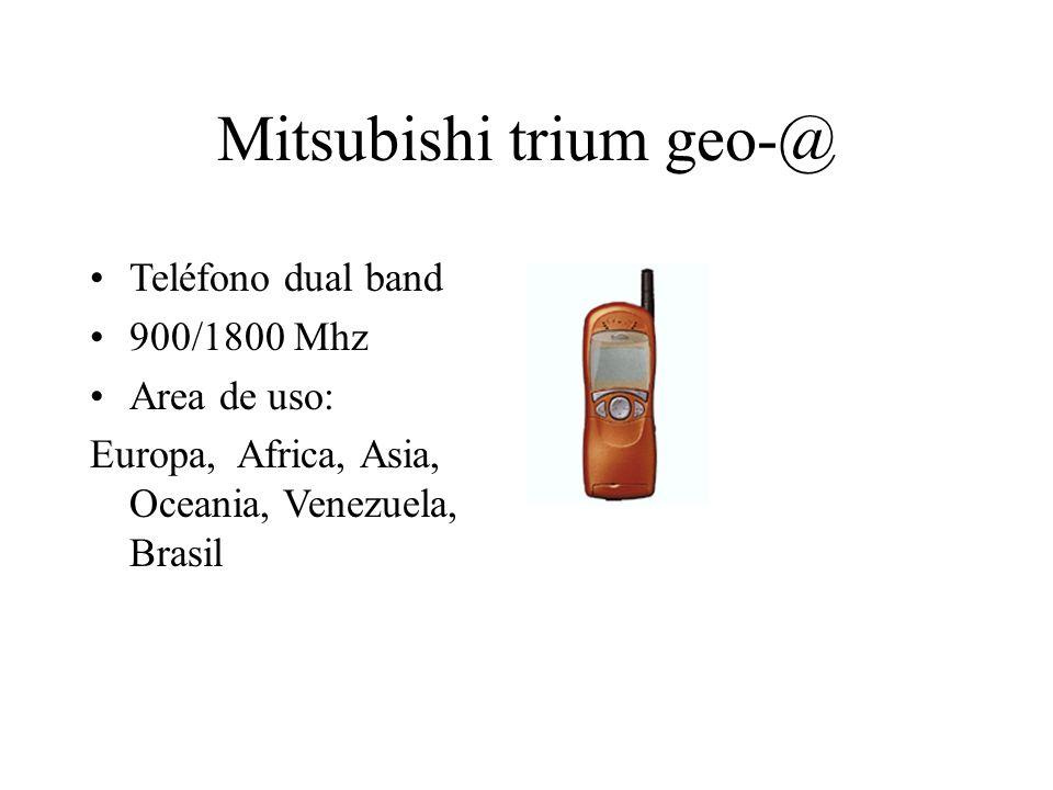 Mitsubishi trium geo-@ Teléfono dual band 900/1800 Mhz Area de uso: Europa, Africa, Asia, Oceania, Venezuela, Brasil