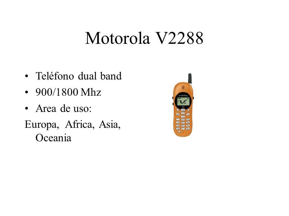 Motorola V2288 Teléfono dual band 900/1800 Mhz Area de uso: Europa, Africa, Asia, Oceania