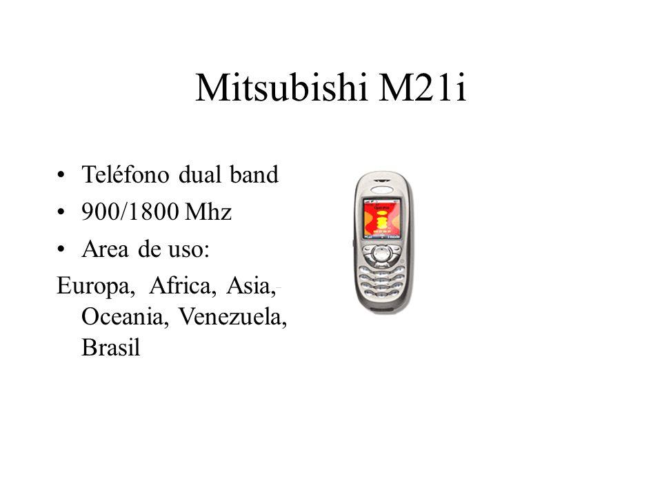 Mitsubishi M21i Teléfono dual band 900/1800 Mhz Area de uso: Europa, Africa, Asia, Oceania, Venezuela, Brasil
