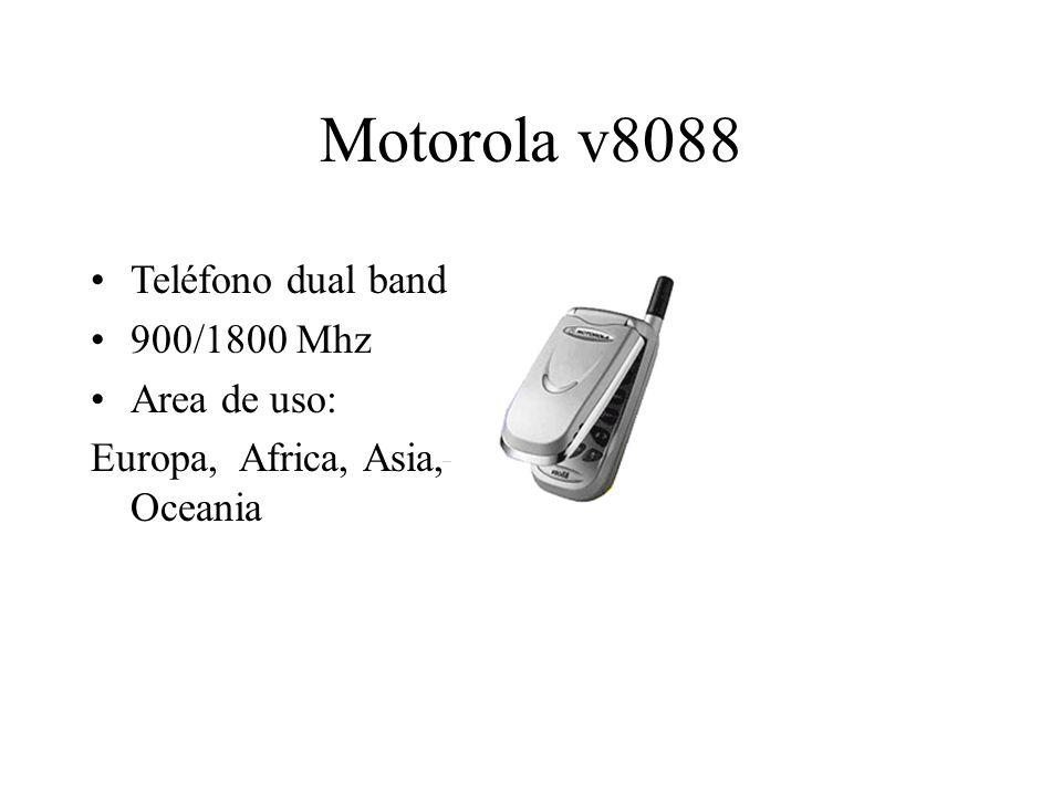 Motorola v8088 Teléfono dual band 900/1800 Mhz Area de uso: Europa, Africa, Asia, Oceania