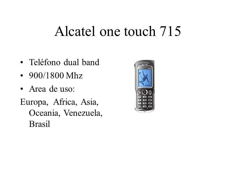 Alcatel one touch 715 Teléfono dual band 900/1800 Mhz Area de uso: Europa, Africa, Asia, Oceania, Venezuela, Brasil
