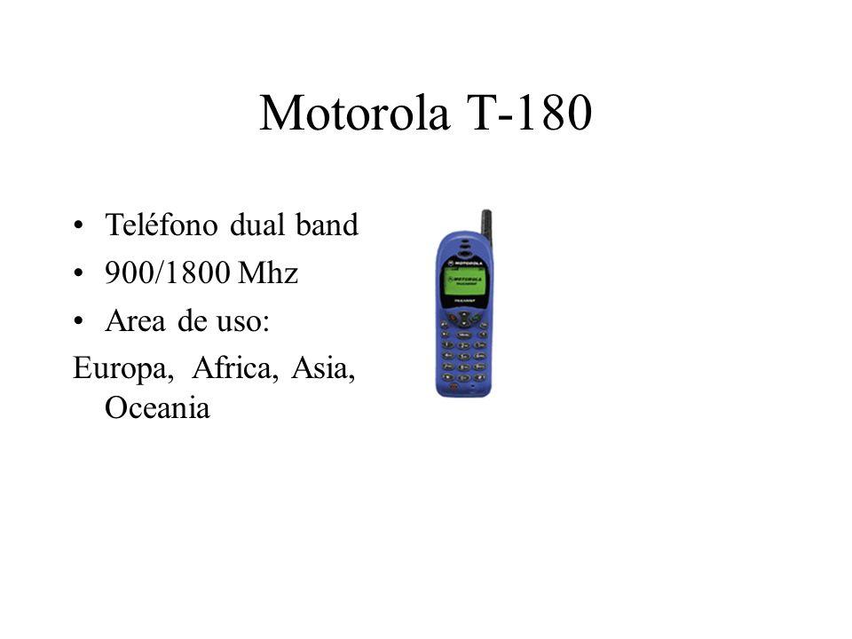 Motorola T-180 Teléfono dual band 900/1800 Mhz Area de uso: Europa, Africa, Asia, Oceania