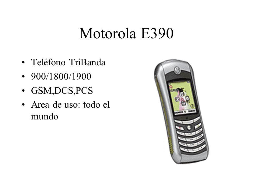 Motorola E390 Teléfono TriBanda 900/1800/1900 GSM,DCS,PCS Area de uso: todo el mundo