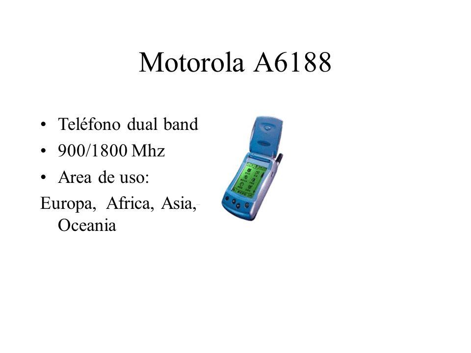 Motorola A6188 Teléfono dual band 900/1800 Mhz Area de uso: Europa, Africa, Asia, Oceania