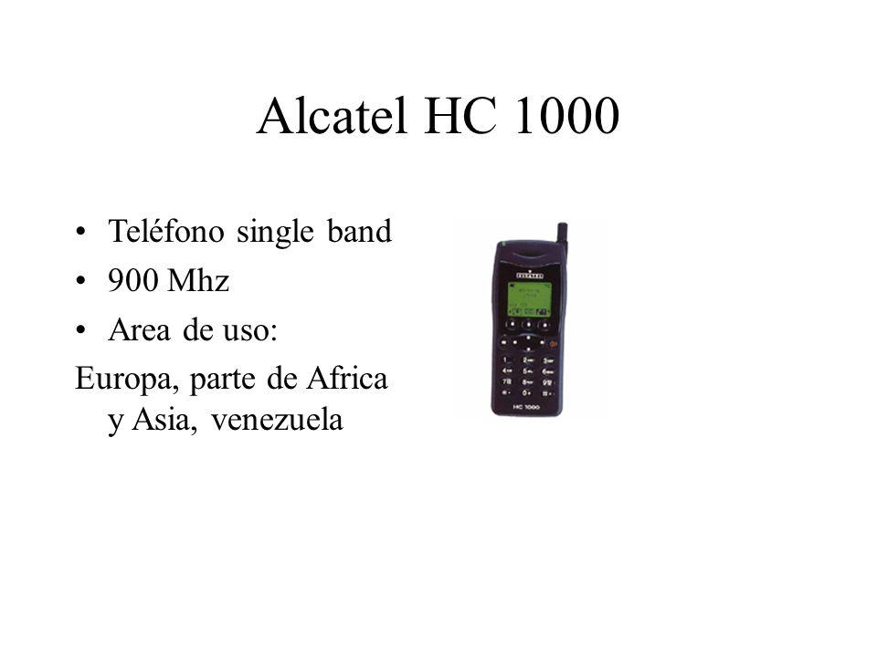 Alcatel HC 1000 Teléfono single band 900 Mhz Area de uso: Europa, parte de Africa y Asia, venezuela