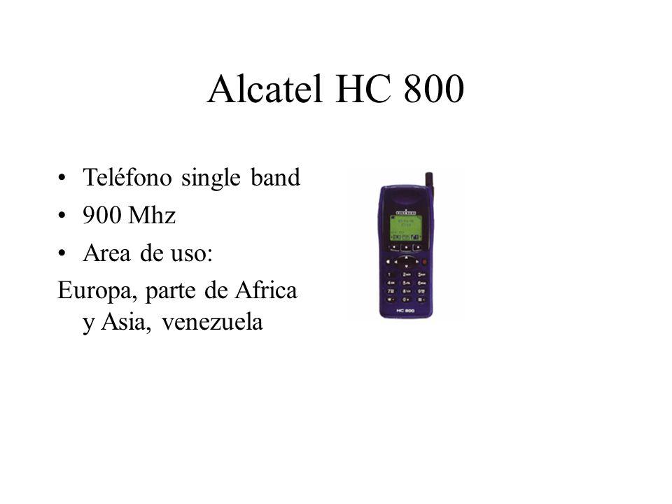 Alcatel HC 800 Teléfono single band 900 Mhz Area de uso: Europa, parte de Africa y Asia, venezuela