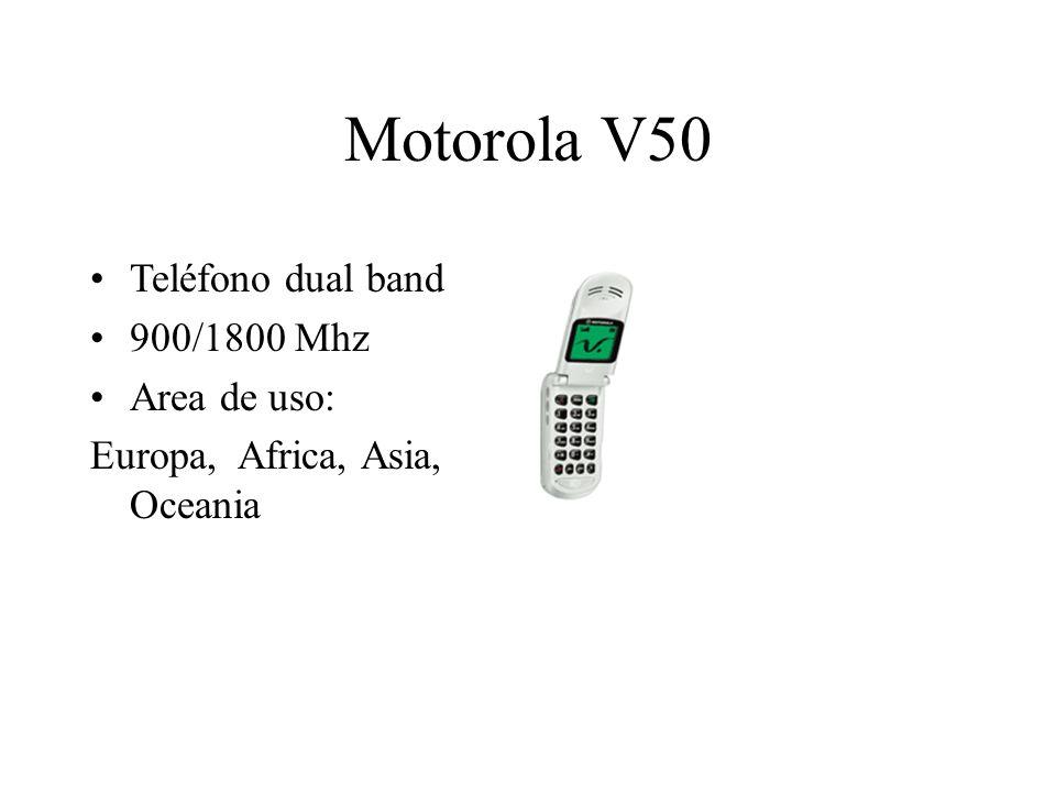 Motorola V50 Teléfono dual band 900/1800 Mhz Area de uso: Europa, Africa, Asia, Oceania