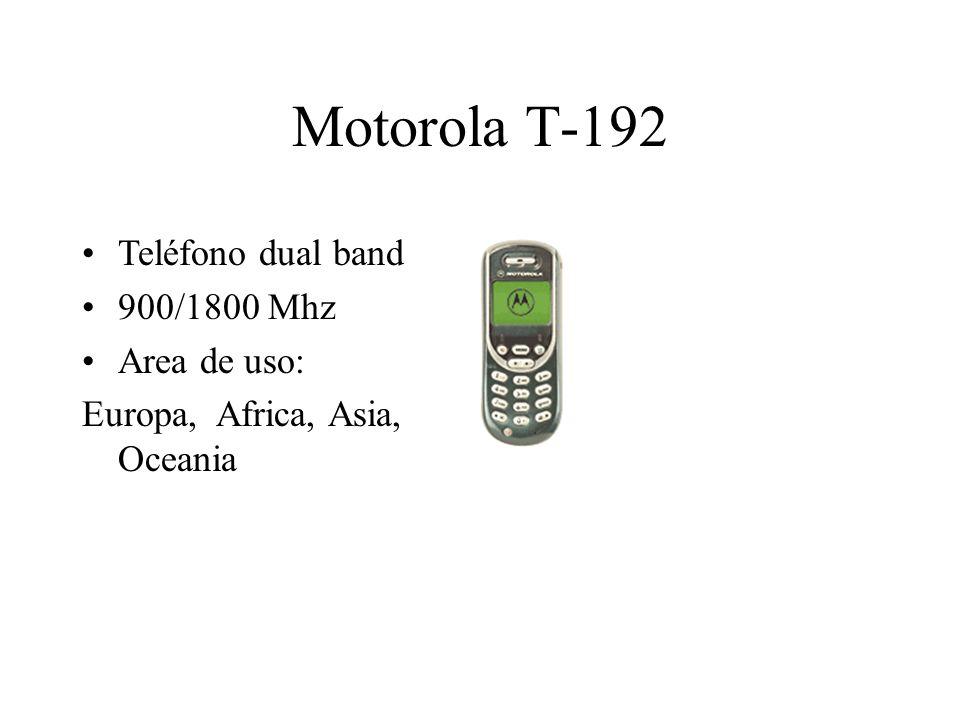Motorola T-192 Teléfono dual band 900/1800 Mhz Area de uso: Europa, Africa, Asia, Oceania
