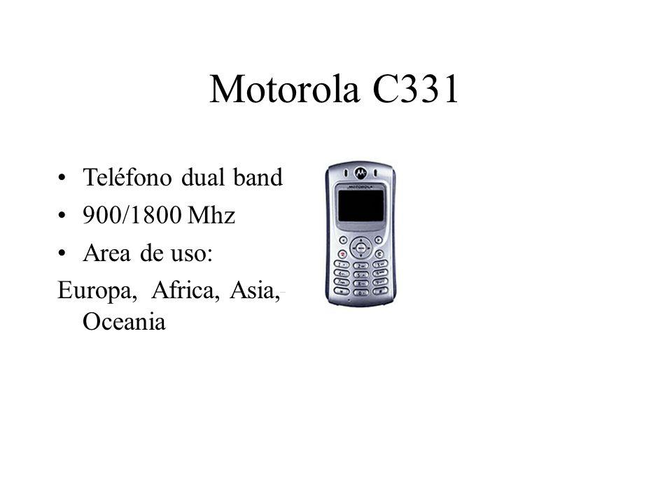 Motorola C331 Teléfono dual band 900/1800 Mhz Area de uso: Europa, Africa, Asia, Oceania