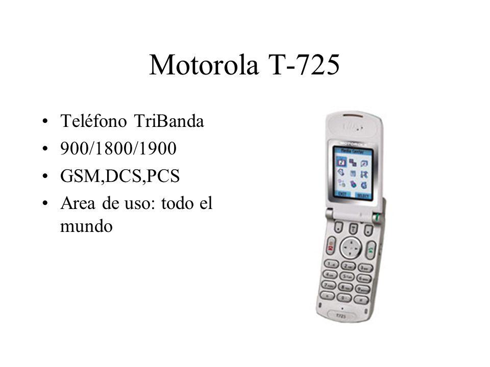 Motorola T-725 Teléfono TriBanda 900/1800/1900 GSM,DCS,PCS Area de uso: todo el mundo