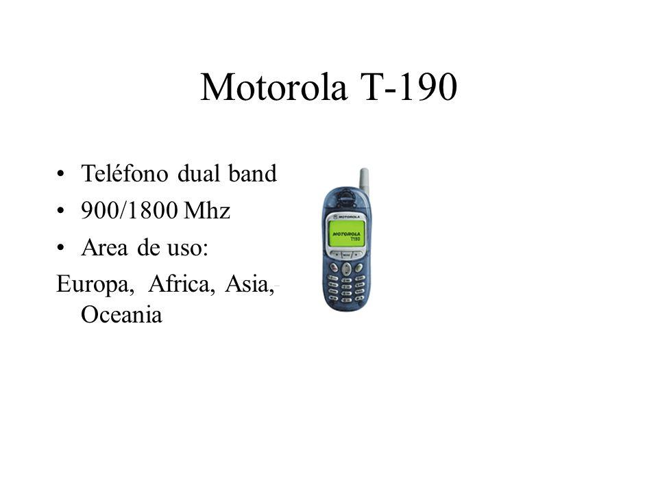 Motorola T-190 Teléfono dual band 900/1800 Mhz Area de uso: Europa, Africa, Asia, Oceania